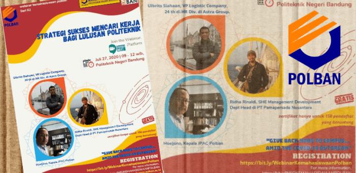 Webinar : Strategi Sukses Mencari Pekerjaan Bagi Lulusan Politeknik