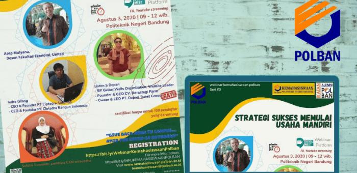 Webinar Kemahasiswaan Seri#3 : Strategi Sukses Memulai Usaha Mandiri